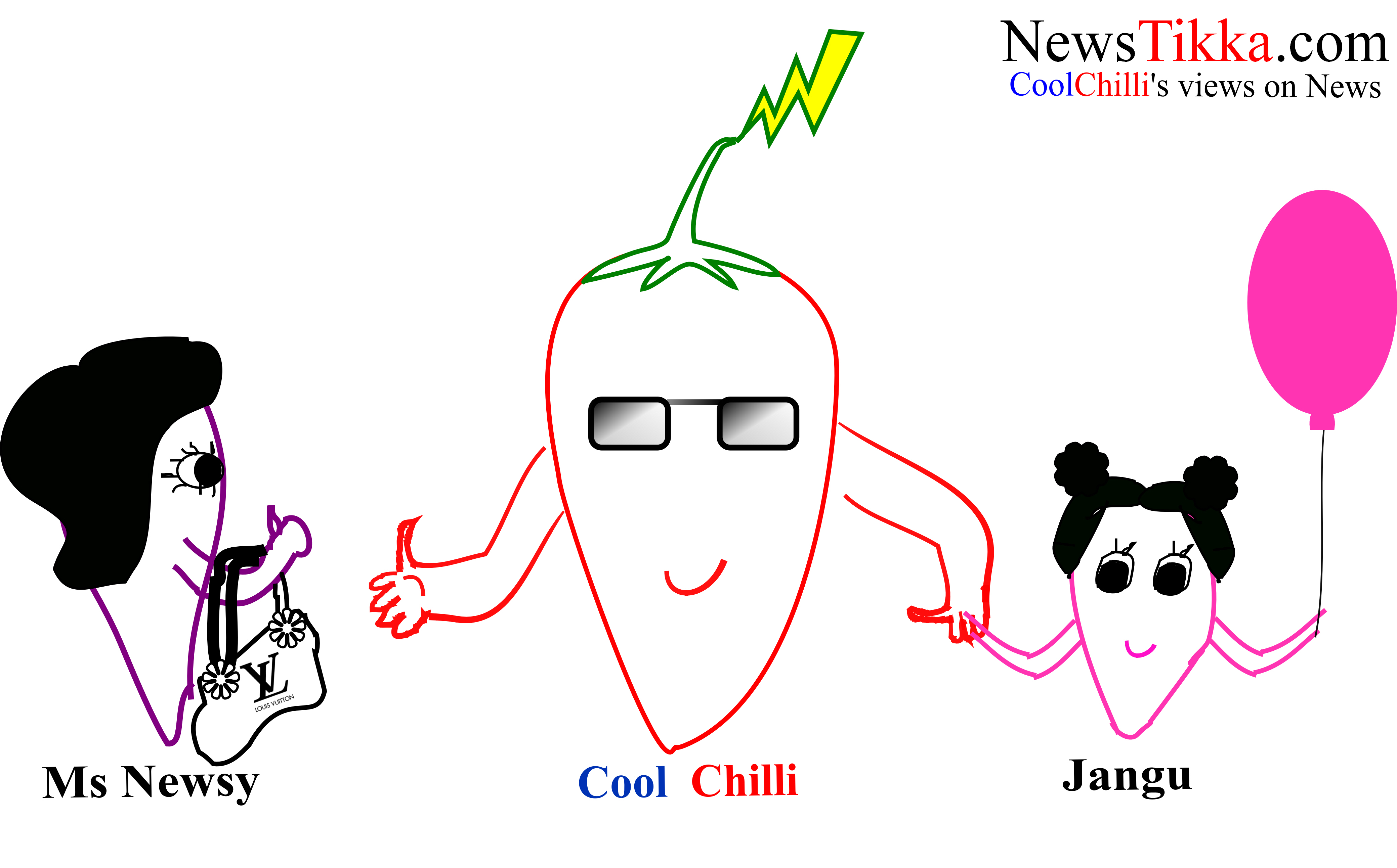news, tikka, humor, cool chilli's views on news, newsy, jangu,